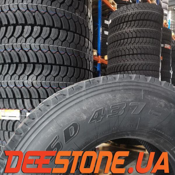 Шина 315/80 R22.5 DEESTONE SD437 156/150K Таиланд ведущая тяга карьерная блок протектора шины